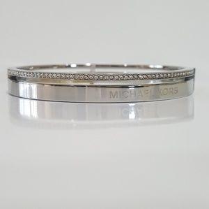 Michael Kors Silver Split Pavè Bangle Bracelet